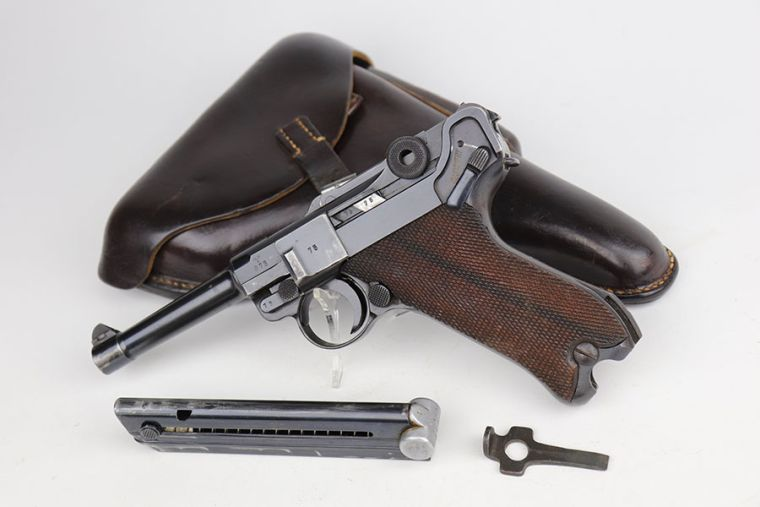 Super Rare Police/Military Mauser Banner Luger - Matching Magazine