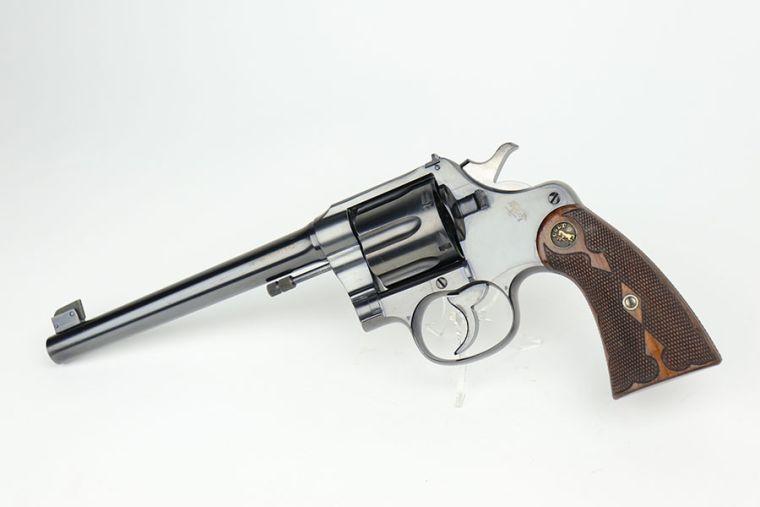 Mint Colt New Service Target Model Revolver - Rare Grips