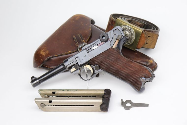 1918 Erfurt Luger Rig - Two Matching Magazines