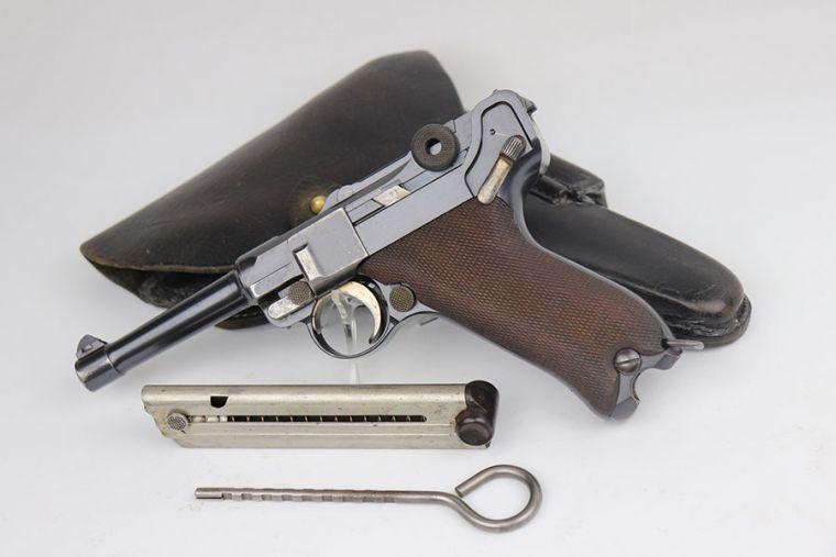 Rare Bulgarian 1908 DWM Luger Rig - Matching Magazine
