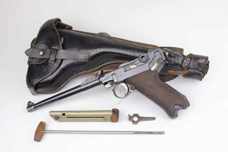 Scarce Erfurt Artillery Luger Rig - Matching Stock