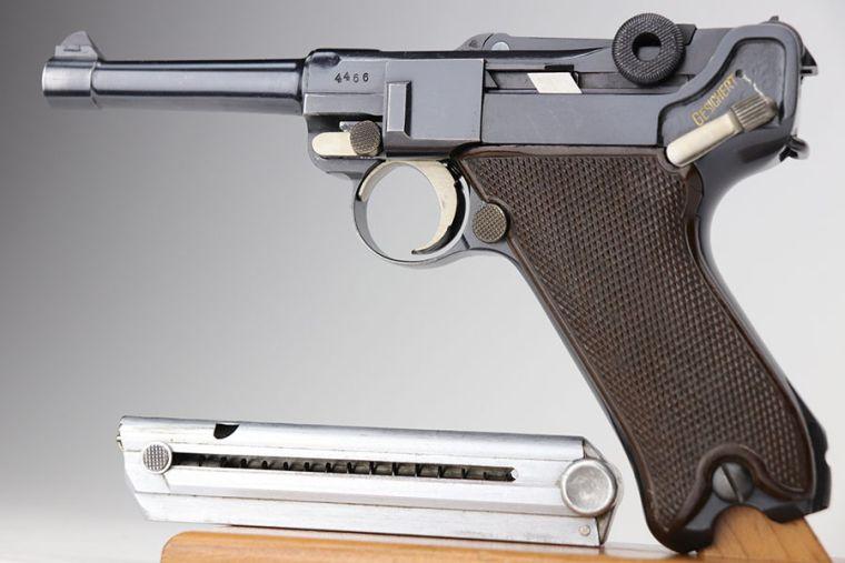Fantastic, Rare Krieghoff Luger - 36 Code - Matching Mag