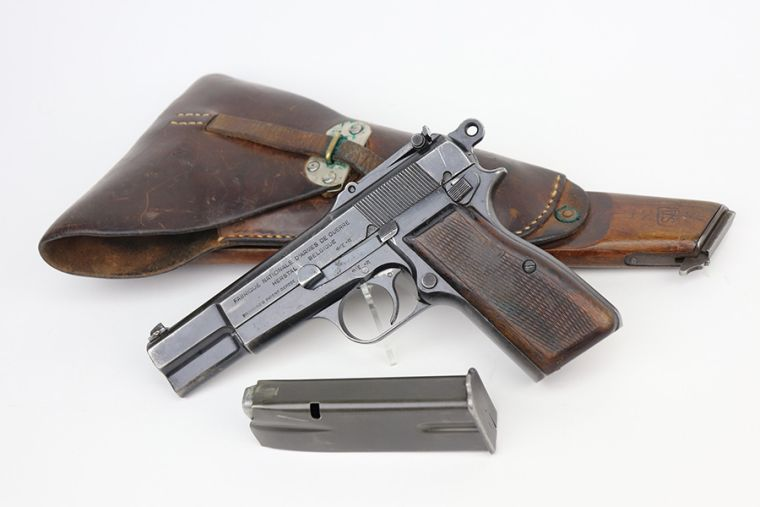 SOLD - Super Rare FN Browning Hi Power Rig - Finnish Contract