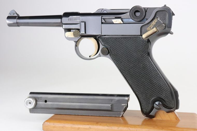 SOLD - Rare, Exceptional 1942 Krieghoff Luger - Near Matching Magazine