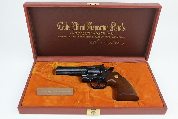 Fantastic, Cased Colt Python - Factory Engraved