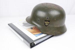 Police M1940 Steel Helmet of SS-Brigadeführer and Knights Cross Awardee Hans Plesch