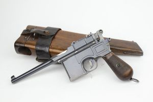 Unit Marked Mauser C96 Rig - Matching Stock