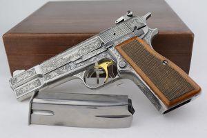 Factory Engraved Browning Renaissance Hi Power - Presentation Case