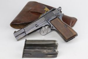ON HOLD - Rare, Early Nazi FN Browning High Power Rig - Slotted Frame
