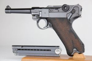 Rare, Excellent 1942 Police Mauser Luger - Matching Magazine