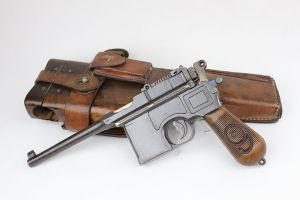 'Red 9' Mauser C96 Rig - Matching Stock