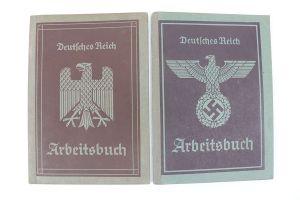 2 Nazi Workbooks - Arbeitsbuch