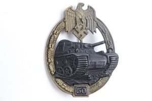 50 Engagement Panzer Badge
