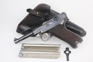 Police DWM Luger Rig - Two Matching Magazines
