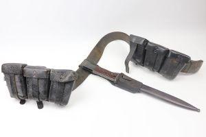 K98 Bayonet, Belt, Buckle & Ammo Pouches
