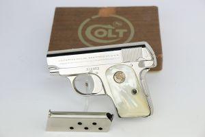 Colt Model 1908 Vest Pocket - Factory Nickeled