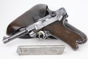 Rare K Date Mauser Luger Rig - Matching Magazine
