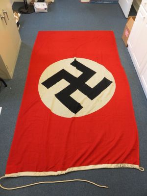 SOLD - Large Kriegsmarine Navy Banner Flag