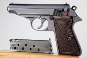 ON HOLD - RJ-Marked Walther PP - Rare Red Grips