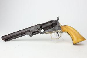 Engraved Colt M1849 Pocket Revolver