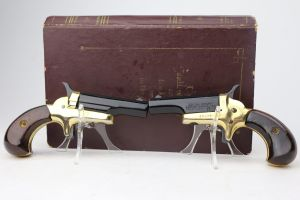Dueling Butler Derringer Pistols - Book Box