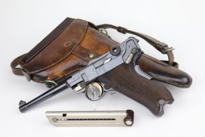 DWM 1906 Swiss Luger Rig - Cross In Shield