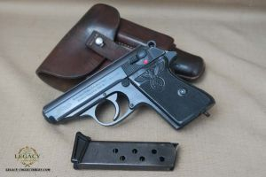 SOLD - Near Mint Black Party Leader, Walther PPK Rig